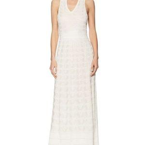 M Missoni Ripple Stitch White Maxi Dress